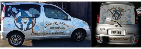 Cleaning Wizard Car Graphics